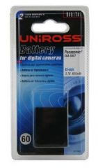 Uniross U0155922 Li-ION Battery to fit Panasonic CGA-S007 TZ1 TZ2  TZ3 TZ5